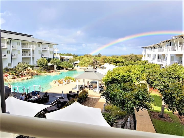 Kingscliff Resort Studio*Ocean/Pool View*Wifi*Wine