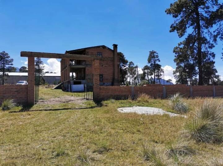 Cabaña muy cerca del nevado de Toluca