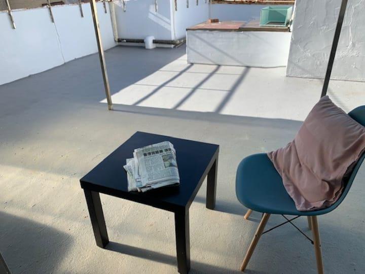 天母大露台ㄧ房一室公寓 Tianmu One Bedroom Apt