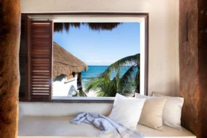 Room at lovely beachfront hotel