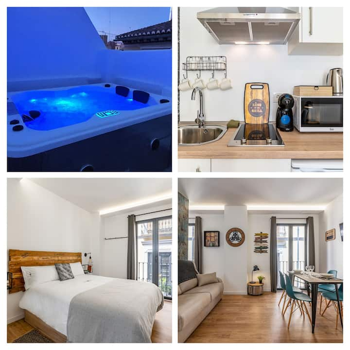 Center Apartment  La Maleta    Be   Jacuzzi y Wifi