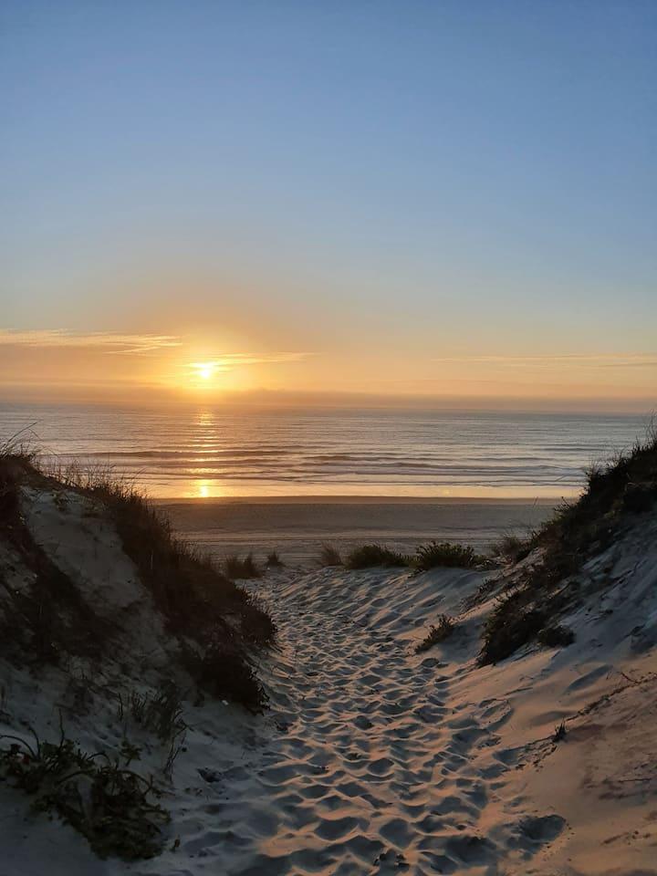 """Na """"conchinha da duna"""",tem o melhor  pôr do sol !"""