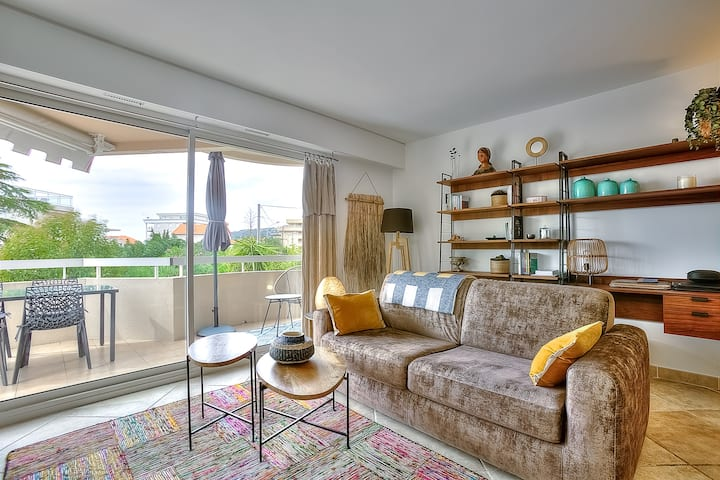 Appartement cosy avec PISCINE à 2 mn de la PLAGE