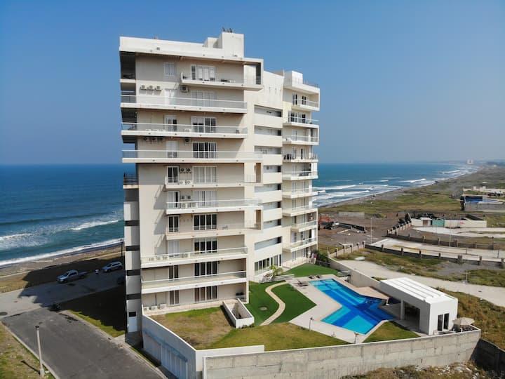 Departamento de lujo con playa privada en Veracruz