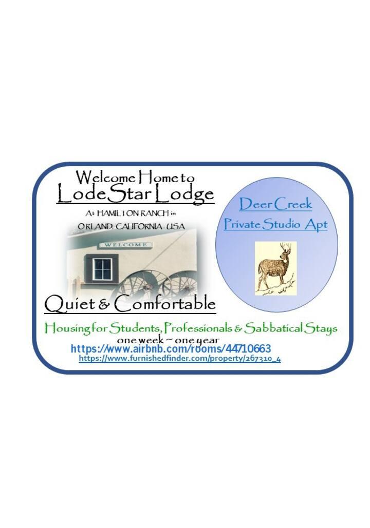 LodeStar Lodge 'Deer Creek Private Studio'