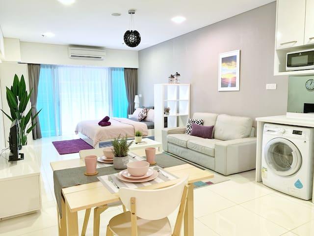 Ease Suite Near Twin Tower KLCC & Kg Baru/Netflix