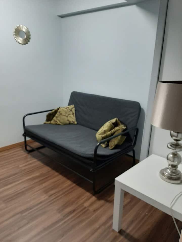 Tiny cozy basement room