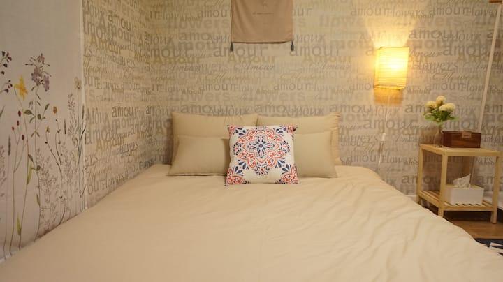 [후연 스테이]진평왕릉코앞!! 뷰가 멋진 마당있는 방2거실1 예쁜 독채 전원주택