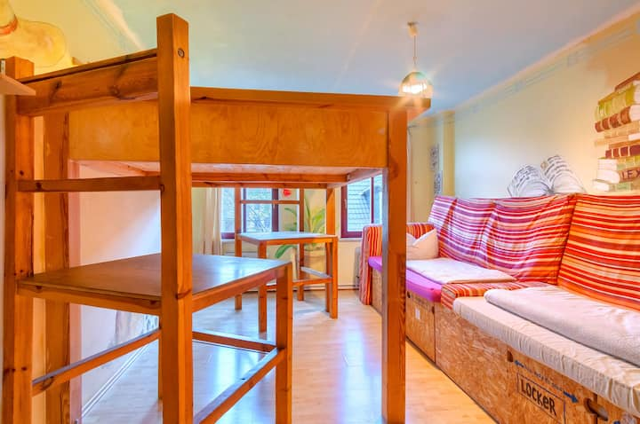 Private 4-bed room with shared facilities