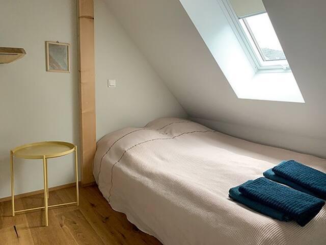 Schlafkammer im Dachgeschoss