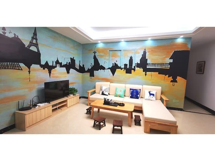 【米鹿2】城中心黄滕峡古龙峡公寓2房一厅2床