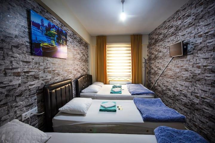 Eviniz kadar rahat - Otel22 (Dört Kişilik Oda)