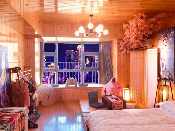 【COSPLAY】日式和服樱美子,飘窗公寓临八佰伴、步行街、方特