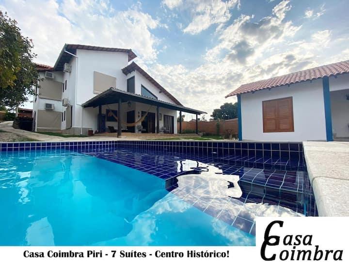Casa Coimbra Piri - 7 Suítes - Centro Histórico!