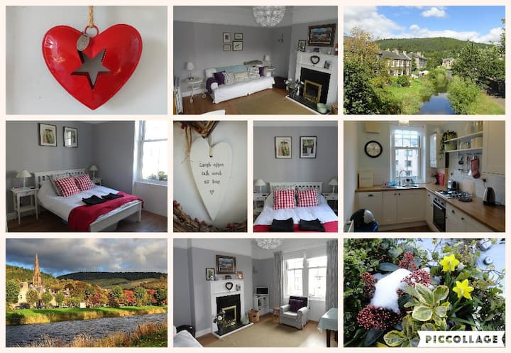 Bright Spacious Riverside Cottage nr Town Centre