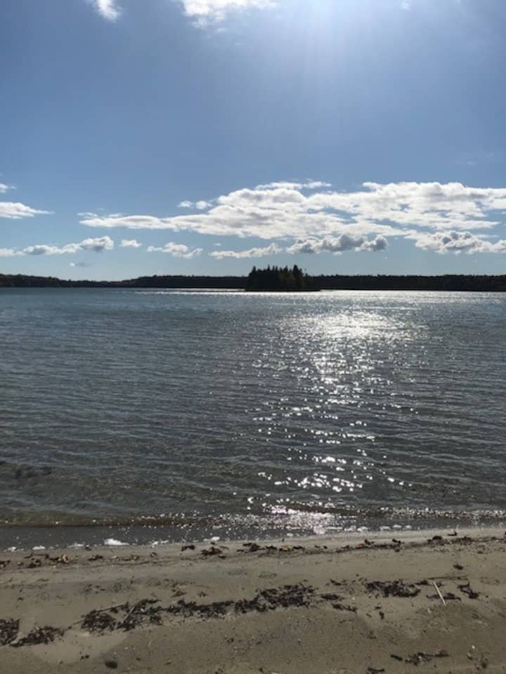 Tobacco Lake Camp with Private Beach - Sleeps 8+