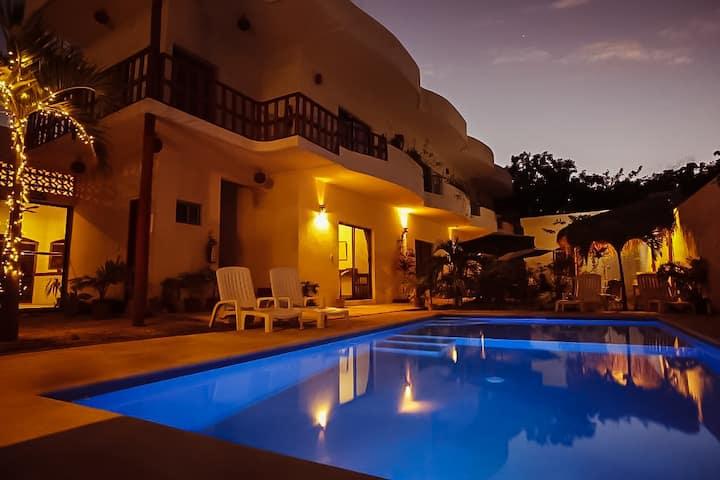 Master Room Excelente ubicación Cenotes:  3 km