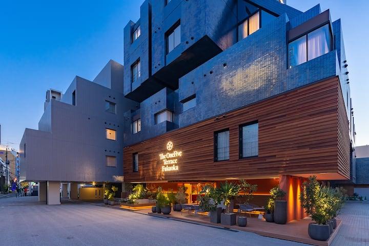 The OneFive Terrace Fukuoka/StandardTwin,2fullbeds