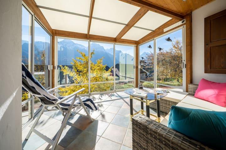2-Zimmerwohnung mit Wintergarten+Ausblick