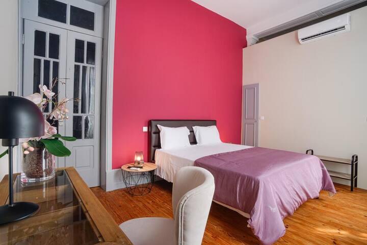 Palacete Suite Aveiro: Quarto 2 - Deluxe c Varanda