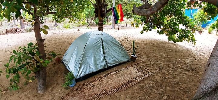 Camping na praia de Caetanos de Cima/CE