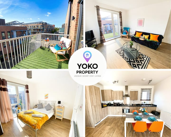 🌟Central MK Penthouse Apartment with Balcony🌟