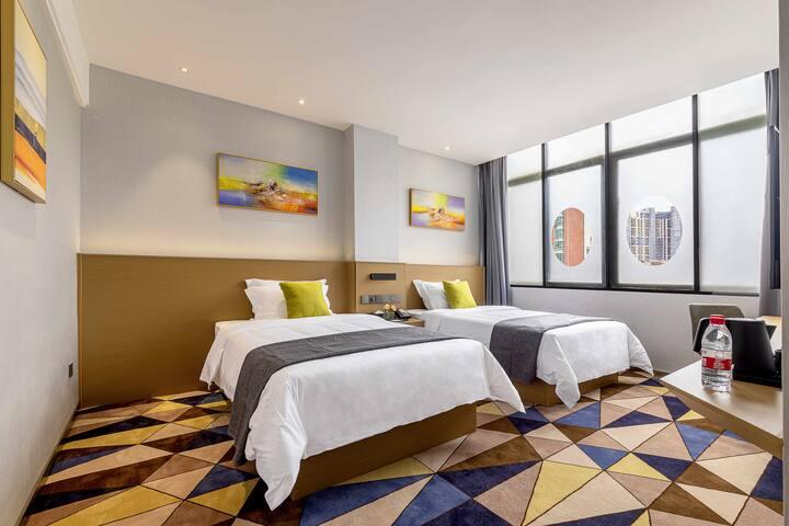 舒享双床房/2间单独双床房/离可园800米
