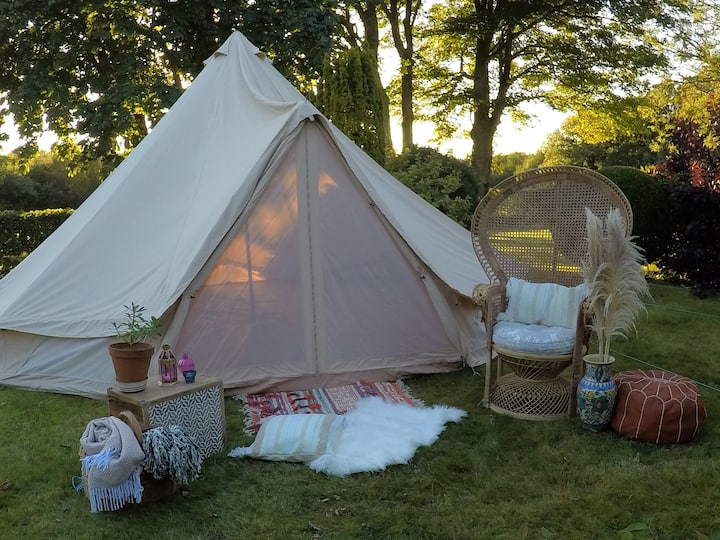 Dreamy bell tent in stunning Gower peninsula