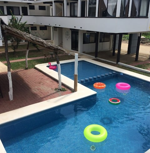 Room in Puerto Arista: very close to the beach...