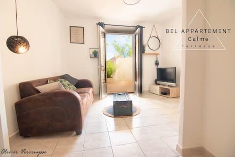 ❤Bel appartement, au Calme avec Terrasse / Siblas❤