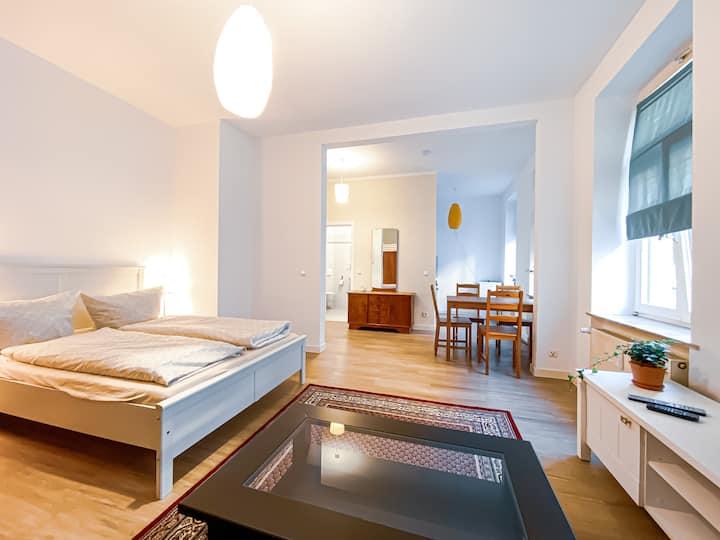 Retro-Apartment in Plagwitz nahe Karl-Heine-Straße