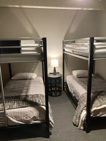 Double bunks in the 4th bedroom.  Perfect for a long night's sleep after a long day on the slopes.