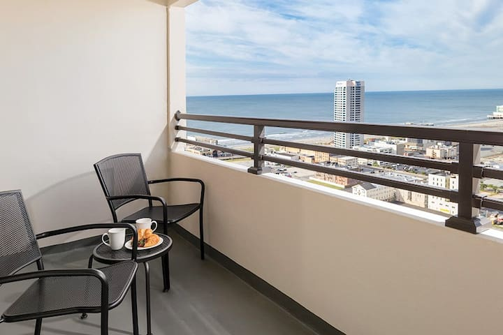 NEAR THE BOARDWALK - Stay in our 1 Bedroom Deluxe Suite just steps away from Beach, Restaurants, Casinos, and MORE!