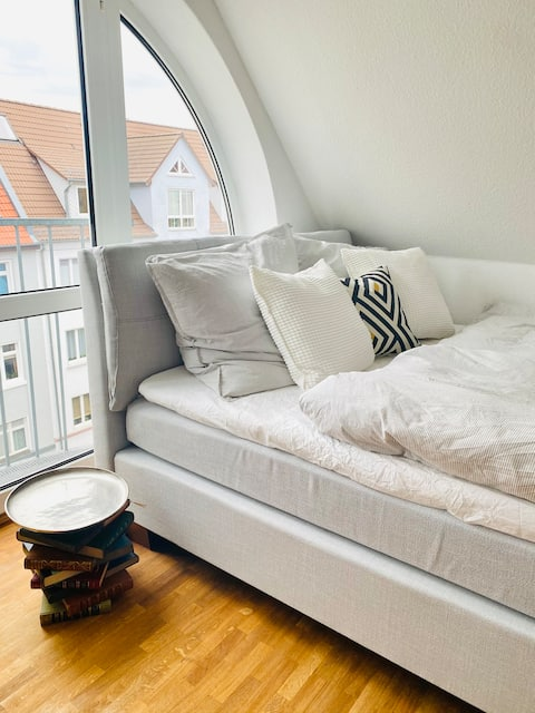 Schöne Wohnung mit Balkon für Wochenendtrips