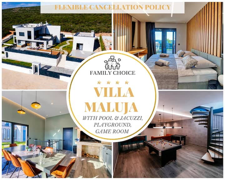Superior Villa Maluja w 5 Bedrooms, Pool & Jacuzzi