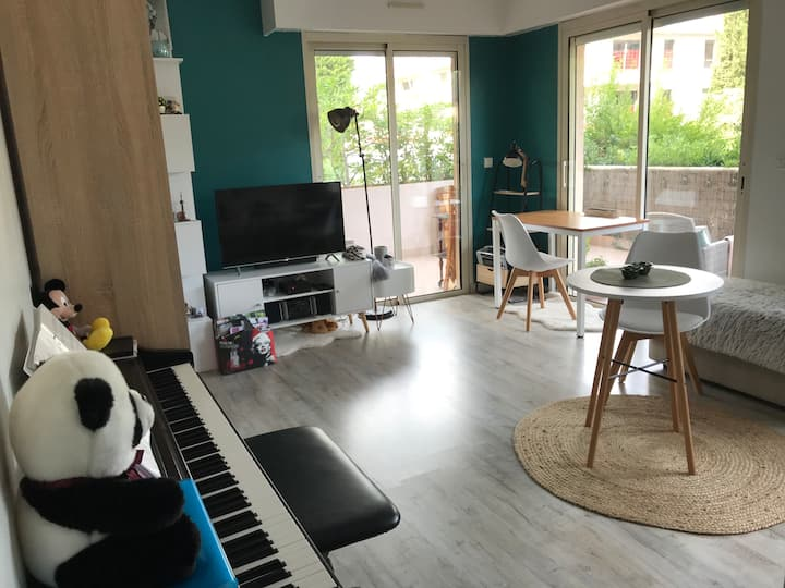 Mougins: Cosy Studio close to Village + Parking