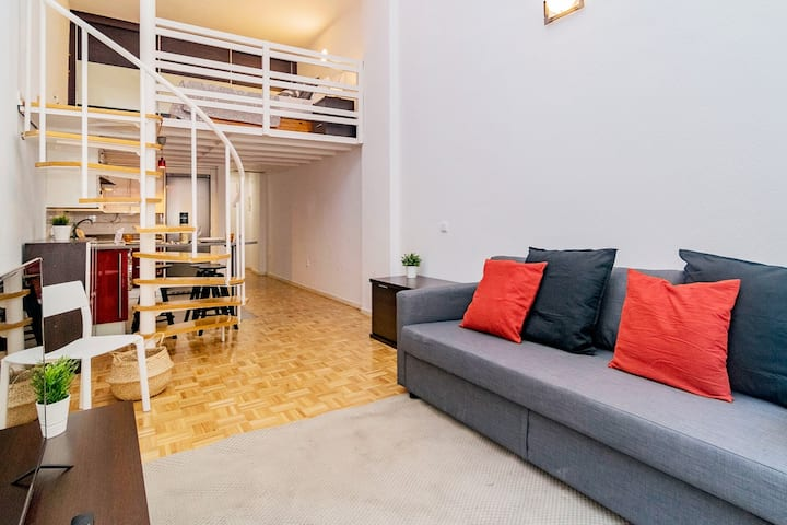 Luminoso Loft en Madrid - Barrio Delicias
