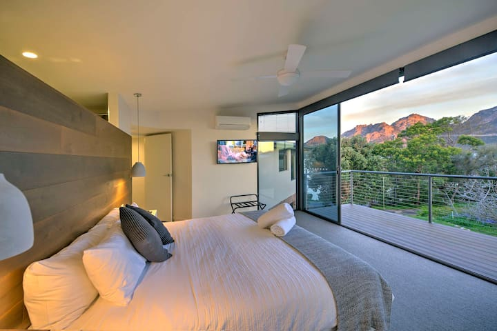The master bedroom opens up to spectacular views and it's own private balcony.  Wake up to this.......... breakfast in bed takes on a whole new meaning.