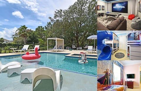 Style & Luxury: Pool, Spa, Movie & Game Room