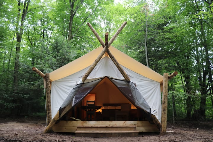 Glamping Eco-Retreat with Luxury Canvas Tent