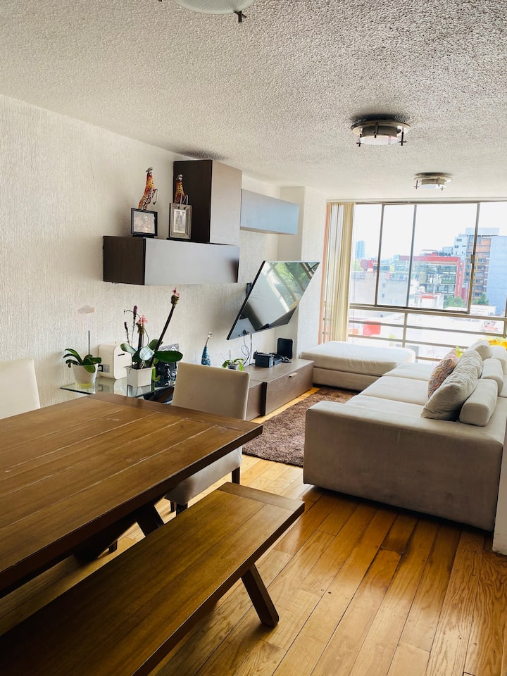 Bonito y acogedor departamento en Condesa