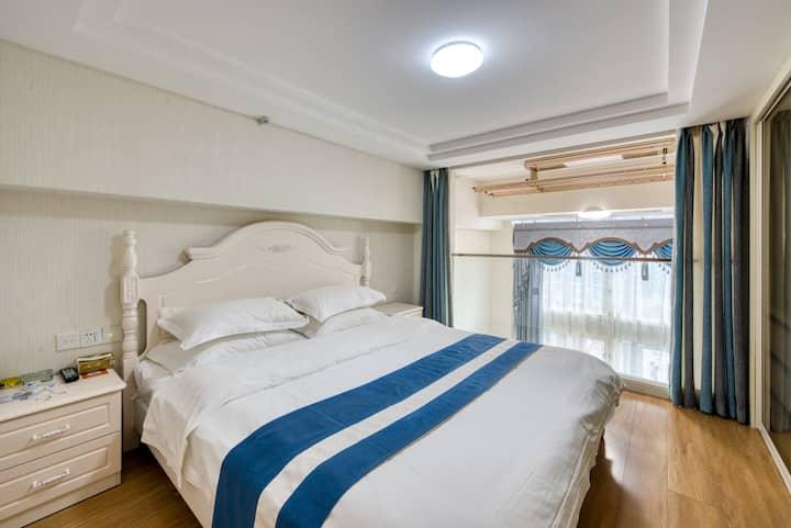 『商旅』全北·云客公馆公寓(复式单卧套房)1.8m大床