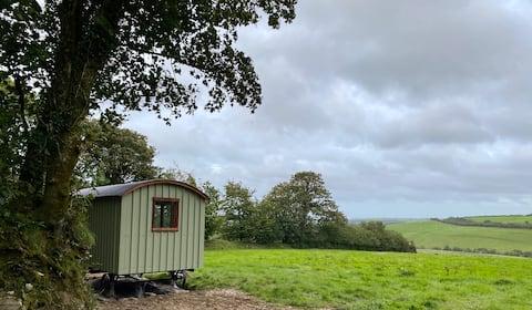 Tranquil Escape; a field hut, close to the coast