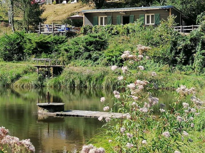 Chalet avec vue sur l'étang