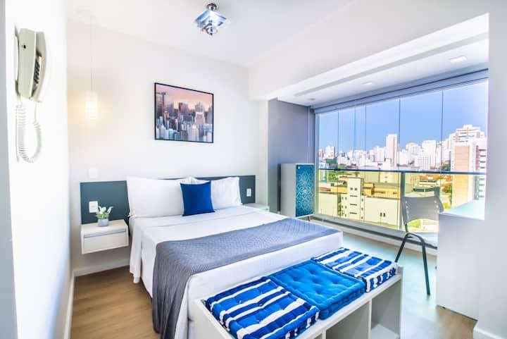 Apartamento Completo | Cooktop, Wi-Fi Fibra & Vaga
