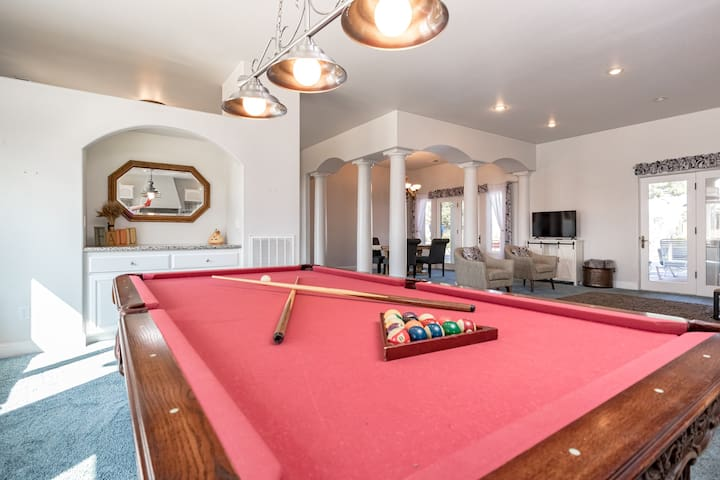 Enjoy a game of pool during your stay