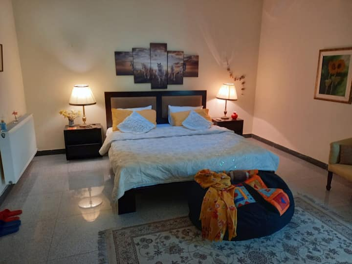 1 Bedroom w/attached bathroom | Wifi | Living room