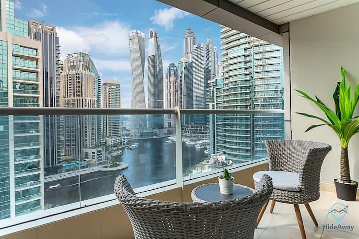 2BR Breathtaking Waterfront ♥ | Heart of Marina