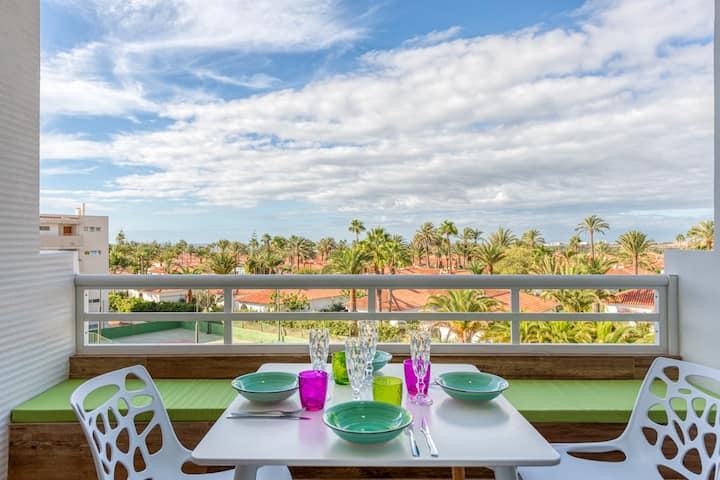 Appartement moderne design avec vue panoramique.