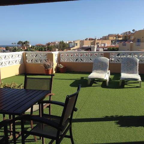 Alojamiento  con bonita terraza